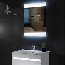 LED Bad Spiegel, Bamberg 50x70cm, Montage HOCH- und QUERFORMAT möglich, A+