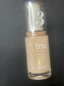 COVERGIRL TRU BLEND LIQUID MAKEUP FOUNDATION L3 NATURAL IVORY 1.0oz EA