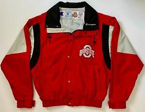 Rare 1993 Champion Ohio State Buckeyes Team Issued Medium Coaches Hooded Jacket