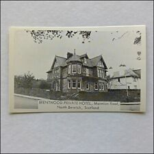 Brentwood Private Hotel Marmion Rd North Berwick Scotland Postcard (P413)