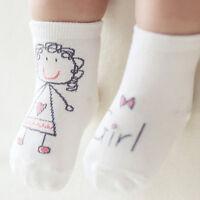 Cute Baby Anti-slip Girls Soft Cartoon Cotton Half Silicone Asymmetric Socks