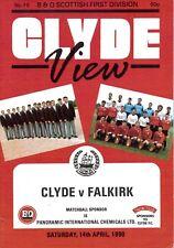 Clyde v Falkirk 14/04/90