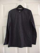 Boys Navy Blue F&F Long Sleeved T-shirt Tshirt Top Size 7-8 Years