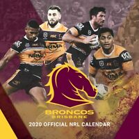 2020 NRL Brisbane Broncos Square Wall Calendar by Paper Pocket 30 x 30cm