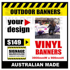 Custom Outdoor Vinyl Banner Sign  - 3900mmW x 900mmH Signage Warehouse