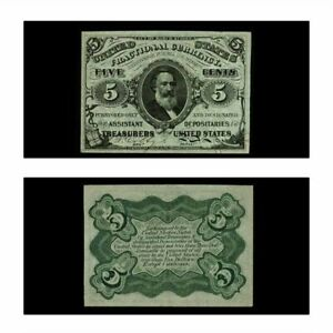 USA Fractional Currency 5 Cents 1863 Third Issue Fr-1238 CU