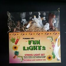 Western Horse Party String Fun Light Animal Box of 10 Primal Lite 12 feet