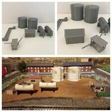 DAPR - N Gauge Model Railway Scenery Building  Kit - Fuel Depot + Silos