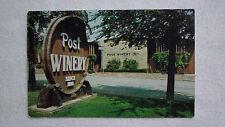 Vintage Post Winery Postcard Altus, Arkansas HWY 64 Roadside America Chrome