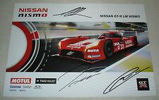 Le Mans 2015 FIA WEC Nissan Motorsports GT-R LM Nismo Car #23 Autographed Card