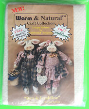 Unique BEN & GERALDINE (COWS) PATTERN w/ Warm & Natural Needled Cotton Sew Craft