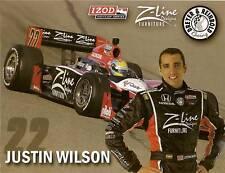 2010 JUSTIN WILSON INDIANAPOLIS 500 PHOTO CARD POSTCARD INDY CAR IRL HONDA