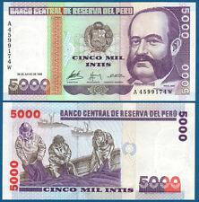 Perù 5000 Intis 1988 UNC p.137