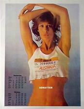 Vintage Pin-up British Airways Australia Calendar Girl Airlines Photo Pinup Art!