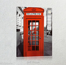 Telephone QUADRO MODERNO VINTAGE ARREDAMENTO CASA LONDRA LONDON QUADRI CABINA