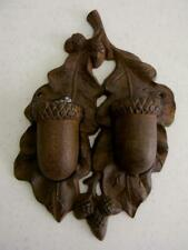 New listing Awesome Large Cast Iron Double Acorn Match Stick Holder