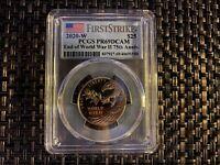 End World War 2 II 75th Anniversary 24k Gold Coin 1st Strike 20XG PCGS PR69DCAM