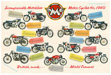 Matchless Motorcycle Poster reproduced from the original 1960 range brochure