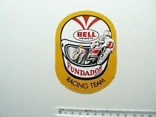 More details for bell helmets fundador domecq racing team vintage sticker - motorcycle racing