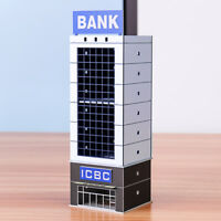 N Scale 1/150 1/144 Outland Sand Table Modern Bank Skyscraper Building Model