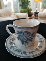 222 Fifth Coffee Cup With Saucer Colonial Rose Blue