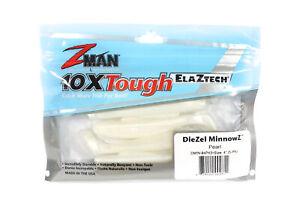 Zman Soft Lure Diezel MinnowZ 4 Inch 5 per pack Pearl (2611)