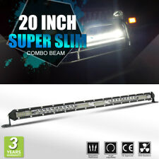 "20"" 22"" Single Row Ultral Thin LED Light Bar for Polaris RZR Bombardier UTV Ford"