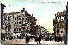 Postcard IN Ft. Wayne Transfer Corner Indiana 1913 YC