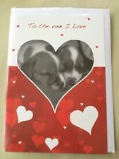 ❤️ Valentines Day Card ❤️  Sleeping Puppy's ❤️ New & Sealed