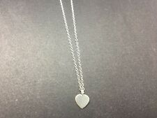 Genuine 925 Sterling Silver Heart Necklace Small Charm Pendant Love Women Girls