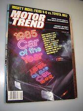 Motor Trend Magazine February 1985- Fiero V-6 vs. Toyota MR2 astro