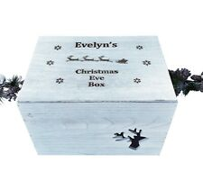 Wooden Christmas Eve Box Personalised Engraved Xtra large Sleigh Crate Box 36cm