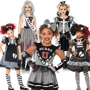 Girl Halloween Witch Doll Zombie Skeleton Monster Prom Goth Fancy Dress Costume