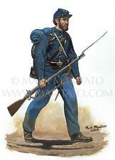 Maritato Original Painting Civil War Art 107th Pennsylvania Infantry 1862 Signed