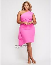 new SOLDOUT christian siriano for lane bryant spring pink one dress 18w plus