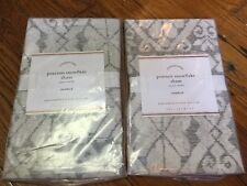 Pottery Barn Pearson Snowflake Set Of 2 Standard Shams Nwt Retail $118.00