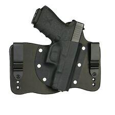 FoxX Leather & Kydex IWB Hybrid Holster Glock 19, 23 & 32 Black Right Tuckable