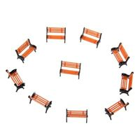 10pcs 1:100 Street Seats Bench Chair Model Train Platform Layout Settle Scale…