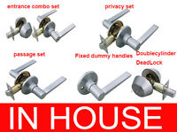 Door Handles locks Passage Privacy Entrance set Deadbolt Dummy handle Satin
