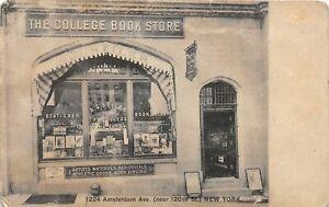H54/ New York City New York Postcard 1917 College Book Store Seiler 91