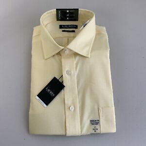 Lauren Ralph Lauren Regular Fit XL 17 32/33 UltraFlex Yellow Dress Shirt