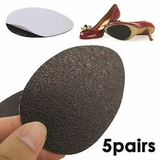 5vPair of Self-Adhesive Anti-Slip Stick on Shoe Grip Pads Rubber Sole Protectors