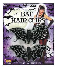 Bat Hair Clips brillo chispeante Bruja Halloween Disfraz Accesorio
