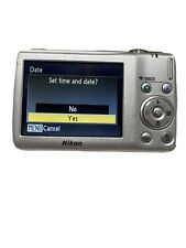 Nikon Coolpix S203 10.0 MP Digital Camera Silver With Battery and Charger