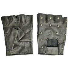Fingerless Gloves Studded Combat Security Driving Military Tactical Biker Punk