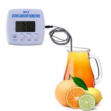 Thermomètre LCD Numérique à sonde Minuteur Cuisson Alarme Cuisine BBQ -50~300℃