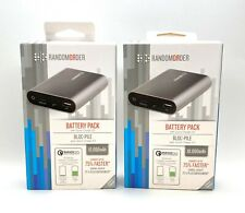 2-PACK (TWO) RandomOrder Battery Pack 10,000mAh Power Bank Quick Charge 2.0 USB