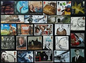 GB Kiloware 2001 - 2020 25 High Value Used Off Paper SPACEFILLERS & SECONDS (5)