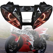 Full Assembly Headlight Projector Red Angel Eyes Hi/Lo For Yamaha YZF R6 06 2007