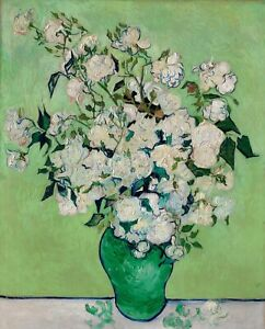 Jug Carnation Paris Van Gogh VG264 Reproduction Art Print A4 A3 A2 A1